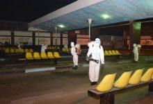 Photo of القوات المسلحة تقوم بتعقم مجمع مواقف السلام النموذجى ضد كورونا