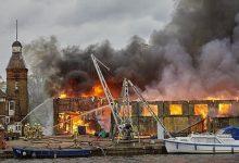 Photo of عاجل اندلاع حريق هائل بالقرب من نهر التايمز في بريطانيا