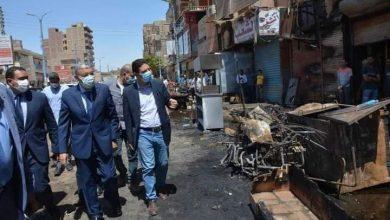 Photo of محافظ المنيا يتفقد الحريق الذي نشب باحد المطاعم في ابو قرقاص